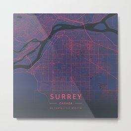 Surrey, Canada - Neon Metal Print