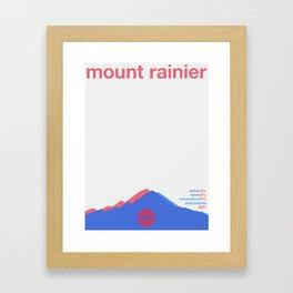 mount rainier single hop Framed Art Print