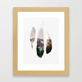Feathers Gerahmter Kunstdruck