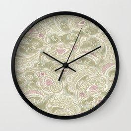 batik paisley warm Wall Clock