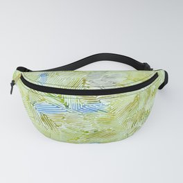 Abstract 4, Lime watercolor pattern Fanny Pack