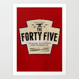 The Forty Five (45) Art Print