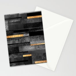 Urban Black & Gold Stationery Cards