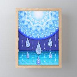 Blue Moonlight Sonata, Mandala artwork by Soozie Wray Framed Mini Art Print