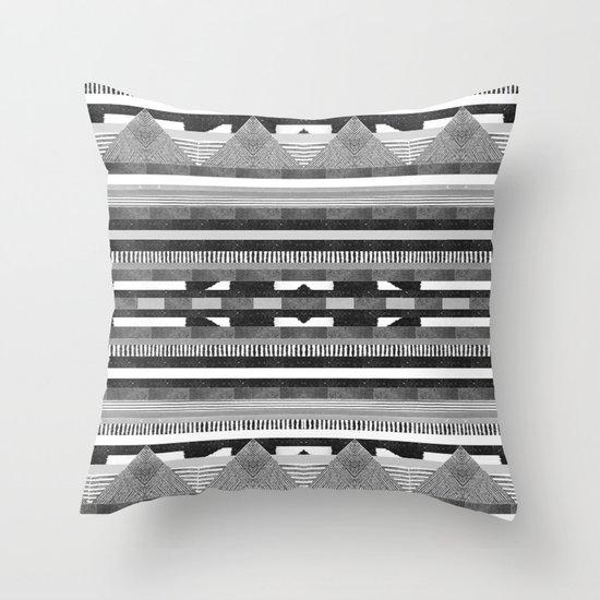 DG Aztec No.2 Monotone Throw Pillow