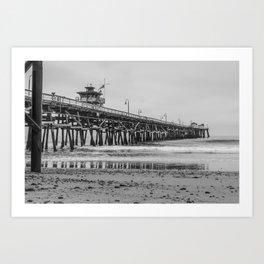 Northside San Clemente Pier Art Print