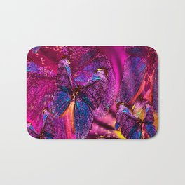 Butterflies Celebration In Pink And Purple Colors #decor #society6 Bath Mat