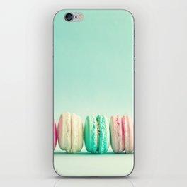 Macarons, macaroons row, pop art iPhone Skin