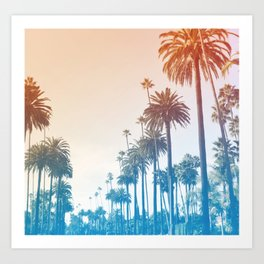 Summer in LA Art Print