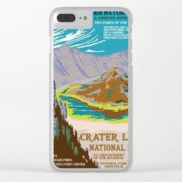 National Parks 2050: Crater Lake Clear iPhone Case