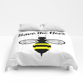 Save the bees logo Comforters