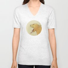 The lady and the lion. Unisex V-Neck