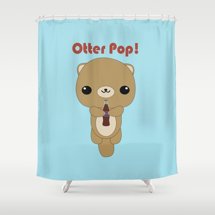 Kawaii Otter Shower Curtain