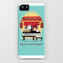 No Face Kaonashi selling Takoyaki iPhone Case