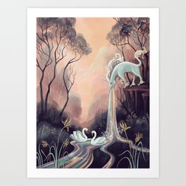 Barfing Unicorn Art Print