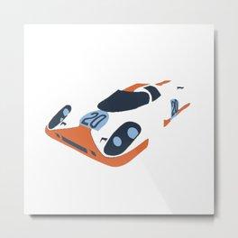 the racing Metal Print