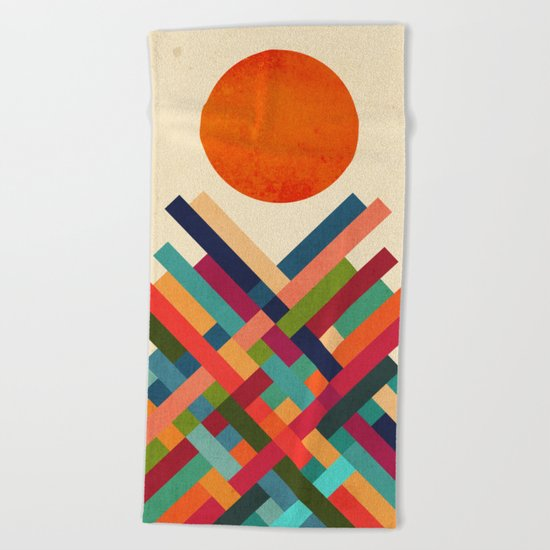 Sun Shrine Beach Towel