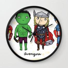 Super Cute Heroes: Avengers! Wall Clock