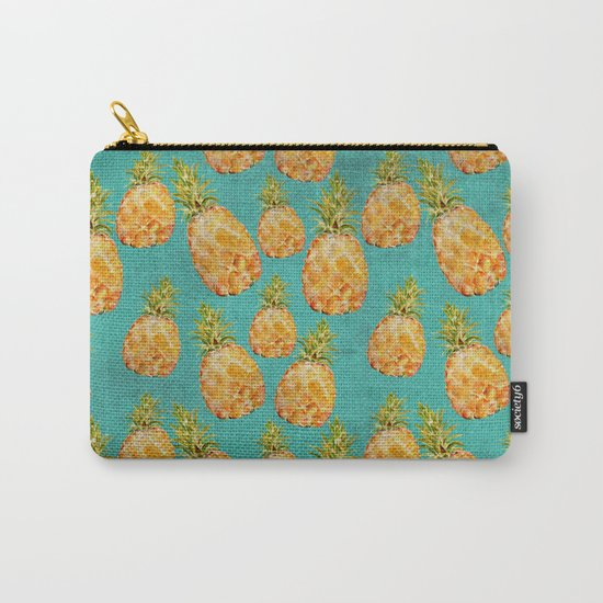 Summer pineapple fruit holiday fun pattern Carry-All Pouch