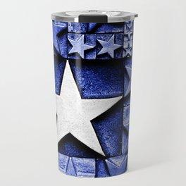 Blue & White Stars Travel Mug