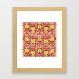 Red Beetles Framed Art Print