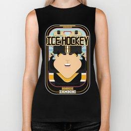 Ice Hockey Black and Yellow - Boardie Zamboni - Amy version Biker Tank
