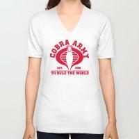 army V-neck T-shirts featuring Cobra army by CarloJ1956