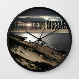 Explore. Dream. Discover Wall Clock