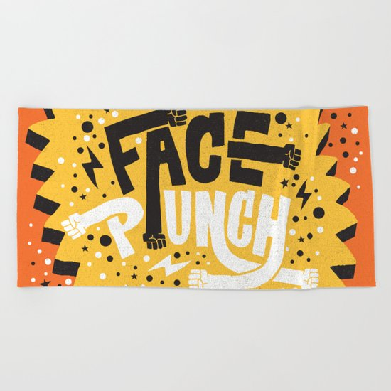 FACE PUNCH Beach Towel