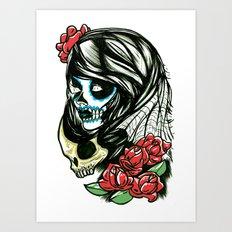 Sugar Skull Girl Art Print