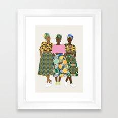 GIRLZ BAND II Framed Art Print