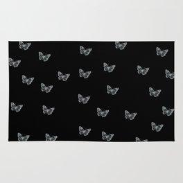 Silver Butterflies Rug