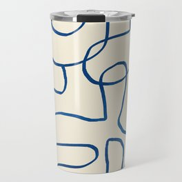 Abstract line art 16 Travel Mug