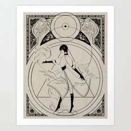 The Gifts of Darkness - Sun dancer Art Print