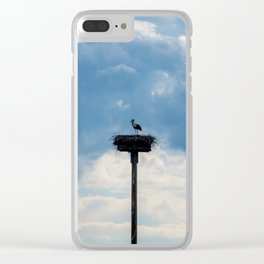 A Stork among the Clouds Clear iPhone Case