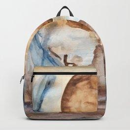 Moonlight Lake watercolor painting Backpack