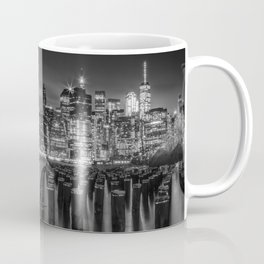 Manhattan Skyline at Sunset   Monochrome Coffee Mug