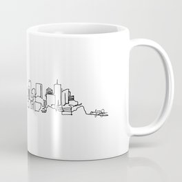 Denver Skyline Drawing Coffee Mug