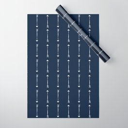 RUSTIC DENIM ARROWS . BLUE + WHITE Wrapping Paper
