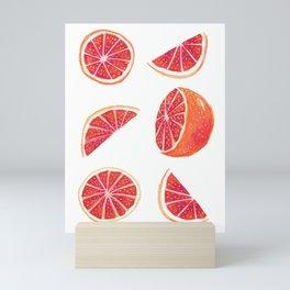 Watercolor Blood Orange Mini Art Print