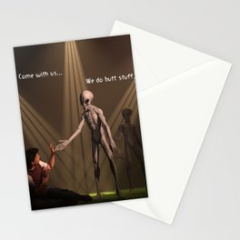Come with us... We do butt stuff Stationery Cards
