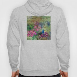 Elegant Peacock Image and Musical Notes Hoody