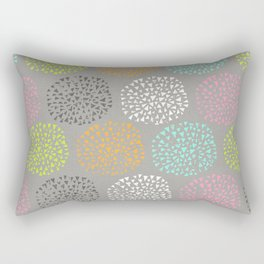 Flowers-triangles Rectangular Pillow