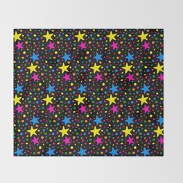 Colorful Stars Throw Blanket