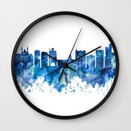 Cork Ireland  Skyline Blue Wall Clock