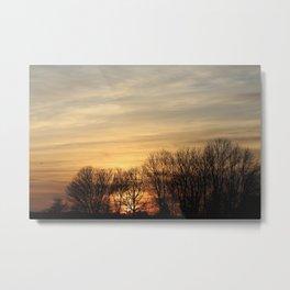Sunset Vs Skydivers Metal Print