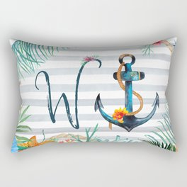 W-Anchor Rectangular Pillow