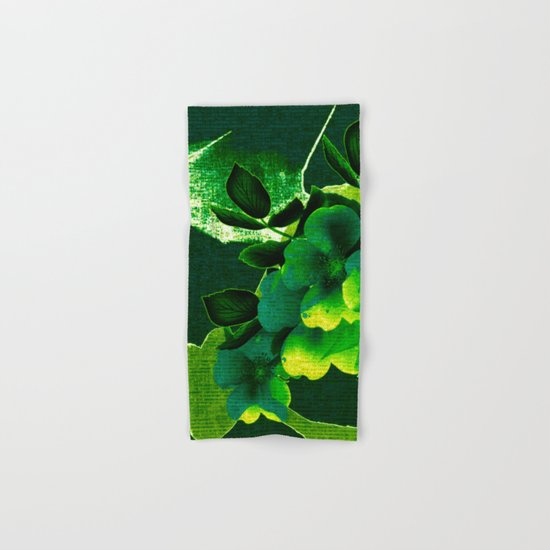 green floral Hand & Bath Towel