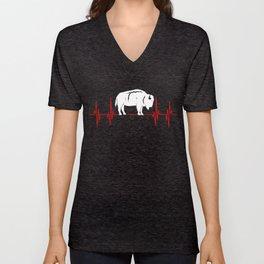 Buffalo  buffalony  wildlife Gift Idea Unisex V-Neck