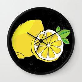 A zest of lemon Wall Clock
